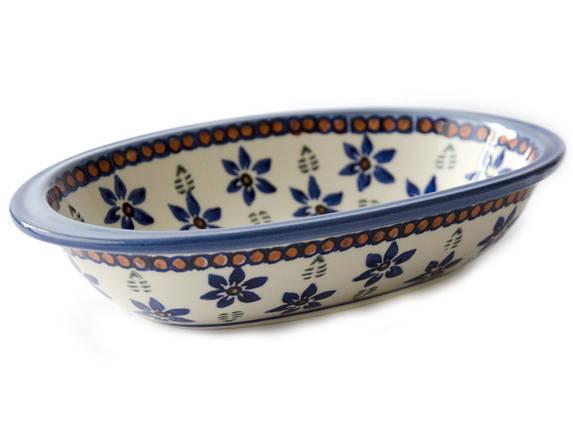 Блюдо овальное с ушками маленькое 20 х11 Blue Stars, фото 2