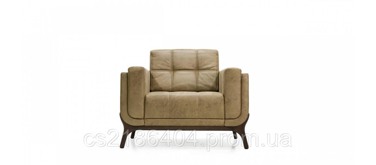 Сучасне крісло  у бежевій тканині шкірзамінника TED
