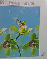 Тканевые жалюзи Орхидеи 120х200 см