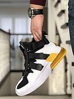 Кроссовки Мужские Хит Весна Белые с Черным в стиле Nike Air Force