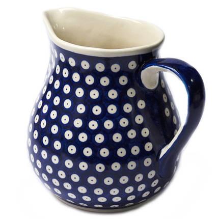 Кувшин керамический с ручкой 1,5L Polka Dot, фото 2
