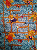 Бязь детская  для постельного белья ш.150 Синие мишки
