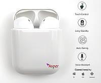 Беспроводные Bluetooth наушники MYKO InPods i12 HD Stereo TWS сенсорные с чехлом и футляром White
