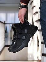Кроссовки Мужские Хит Весна Черные в стиле Nike Air Force