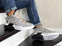 Кроссовки Мужские Хит Весна Серые с Белым в стиле Nike Air Force