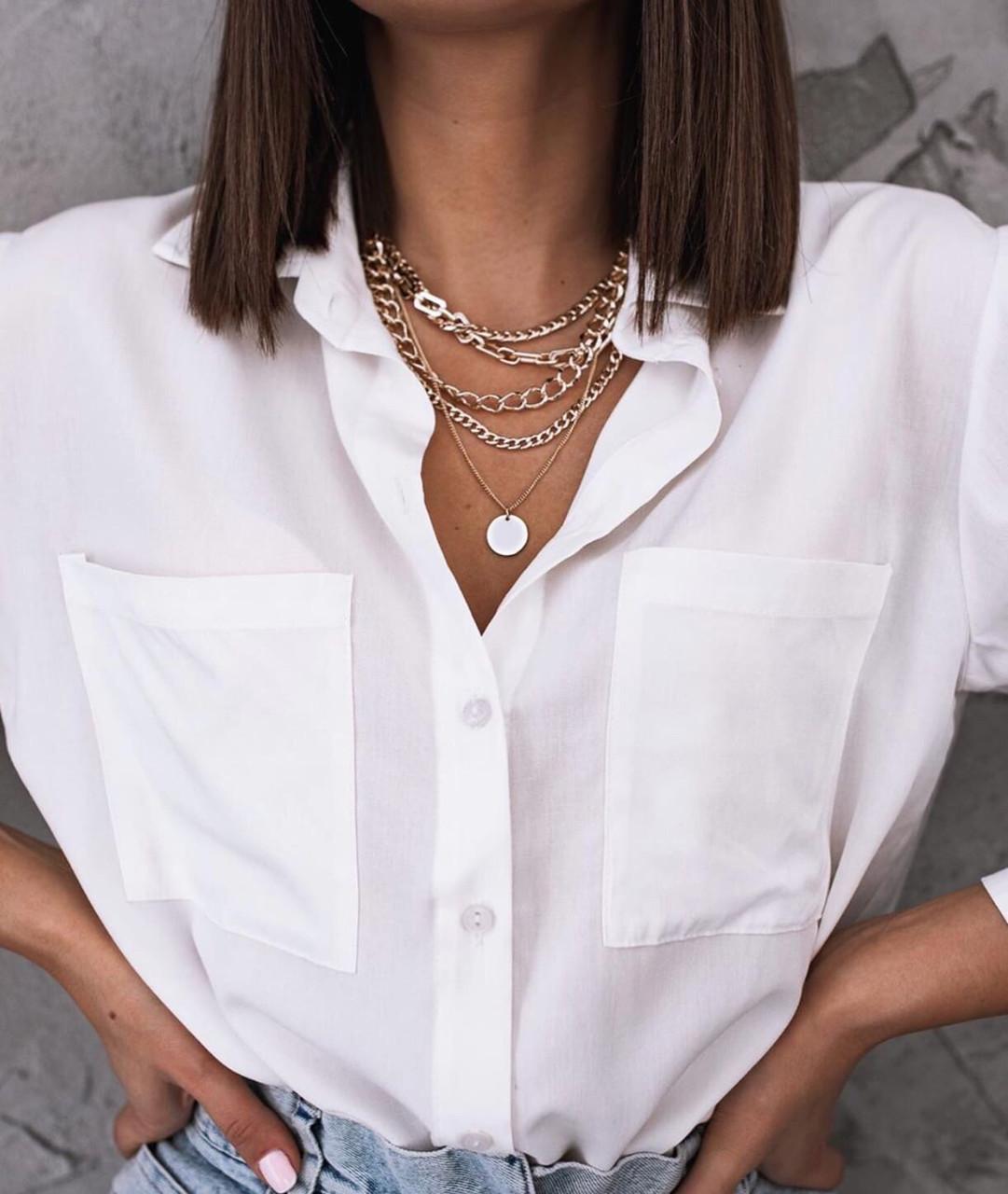 Рубашка женская белая