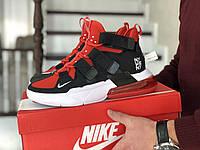 Кроссовки Мужские Хит Весна Черные с Красным в стиле Nike Air Force
