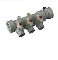 Коллектор с шаровыми кранами 3 выхода Koer PPR (40-20) полипропилен