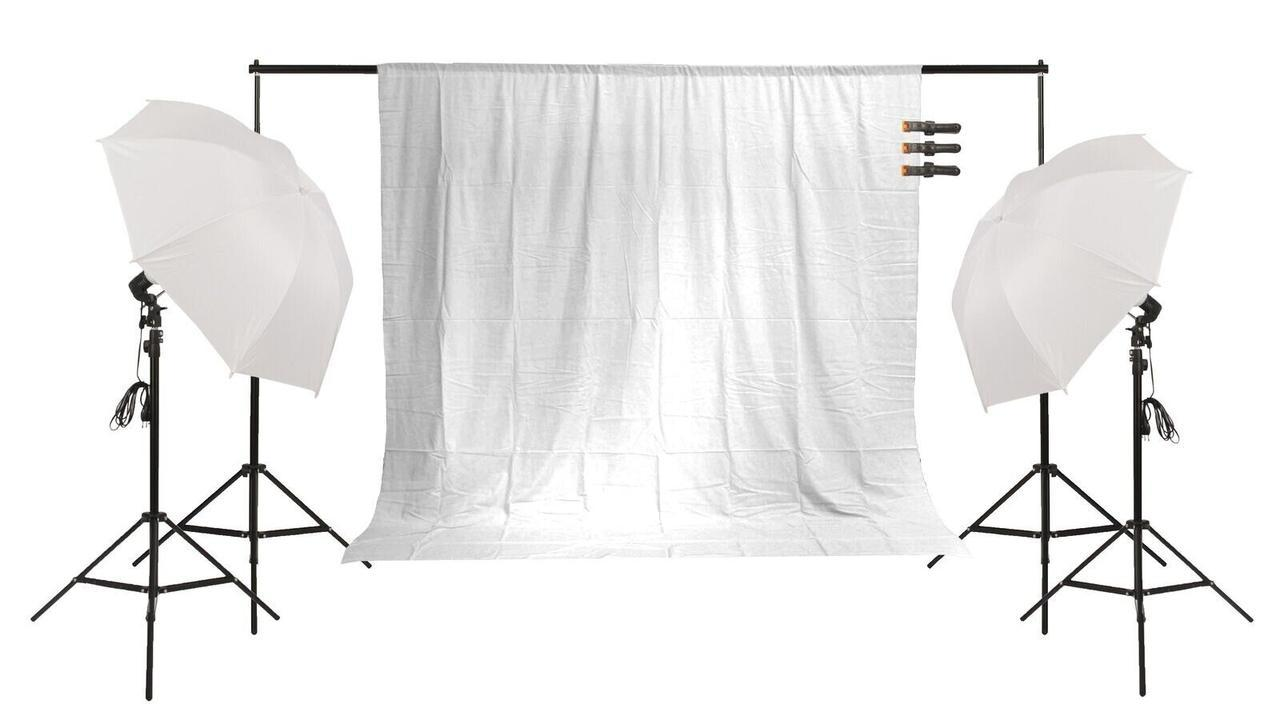 Набор постоянного света + фотофон FST PHOTO FF-155 для блогеров