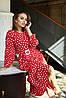 Платье с юбкой плиссе с 42 по 52 размер Весна 2020, фото 2