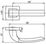 Ручка роздільна Punto (Пунто) ORION QR GR / CP-23 графіт / хром, фото 3
