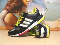Кроссовки для бега Adidas ZX 700 черно-салатовые 41 р.