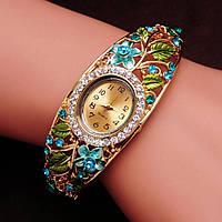 Женские часы браслет Bouquet стиль KORS Голубые