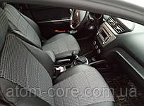 Чехлы на сиденья Саманд ЛХ (Samand LX) (универсальные, кожзам+автоткань, с отдельным подголовником) черный