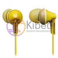 Навушники Panasonic RP-HJE125E-Y Yellow, Mini jack (3.5 мм), вакуумні, шнур 1,1 м