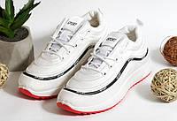 0352 Кроссовки Sport на плотной подошве белого цвета. 38 размер -стелька 23,8см, фото 1
