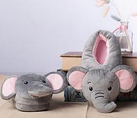Тапочки Слоники, размер универсальный 32-34, стелька 22 см, фото 1