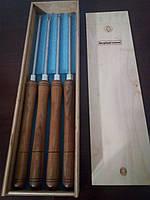 Набір токарних різців по дереву з вольфрамовими насадками в коробці