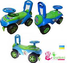 Каталка Машина 0141 салатова голуба толокар Долоні машинка для катання