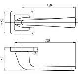 Ручка роздільна Punto (Пунто) SATURN QR GR / CP-23 графіт / хром, фото 3