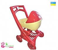 Коляска для куклы 0121/03 красная с люлькой в коробке Долони
