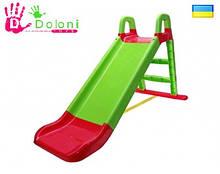 Гірка для катання дітей 0140/04 зелена Долони Doloni детская горка