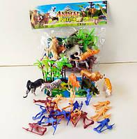 Дикие Животные 2146 звери, индейцы, пальмы