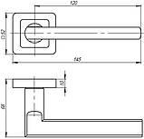 Ручка роздільна Punto (Пунто) PLUTON QR GR / CP-23 графіт / хром, фото 3