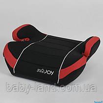 Детское автокресло бустер вес 15-36 кг Joy 43769 Черно-красный