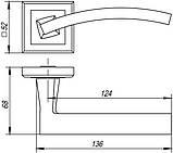 Ручка роздільна Punto (Пунто) NAVY QL GR / CP-23 графіт / хром, фото 3