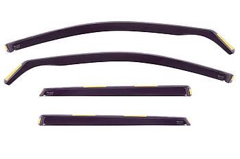 Дефлекторы окон (ветровики) Audi A6 (C5) 1997-2003 4D / вставные, 4шт/ Combi