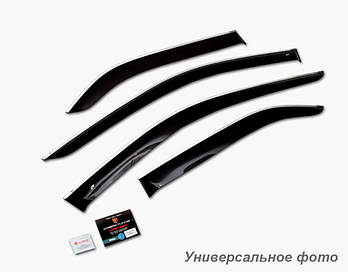 Дефлекторы окон (ветровики) Volvo XС90 2015 (с хром молдингом)