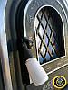 Печная дверца со стеклом 560х345мм, чугунные дверки для печи и барбекю 102005, фото 4