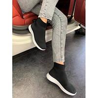 Кроссовки текстильные носки черные легкие