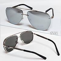 Солнцезащитные очки Bvlgari авиаторы зеркалки с поляризацией