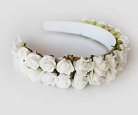 """Ободок с цветами """"Белые розы"""", фото 1"""