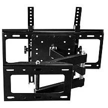 Кронштейн поворотный для телевизора с диагональю 26-52 дюйма.Настенный крепеж для телевизора TVCP401, фото 3
