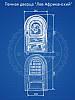 Печная дверца 560х345мм чугунные дверки для печи и барбекю 102008, фото 2