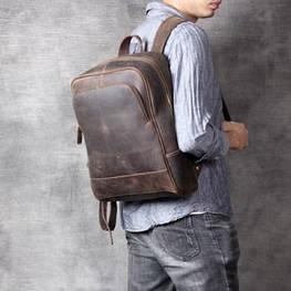 Мужской  рюкзак (натуральная кожа) Модель DM-28