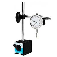 Стойка индикаторная с магнитным основанием GROZ и индикатор часового типа ИЧ-10 0.01 мм с ушком