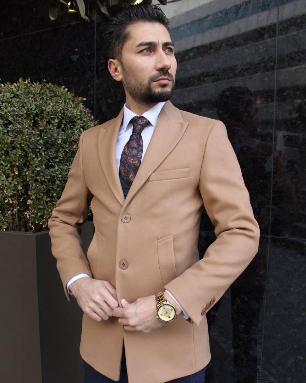 Пальто Чоловіче пальто коричнивое