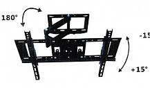 Кронштейн поворотный для телевизора с диагональю 26-52 дюйма.Настенный крепеж для телевизора TVCP501, фото 3