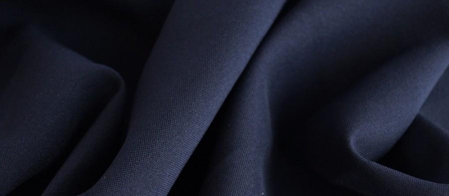 Ткань Габардин темно синий TG-0027