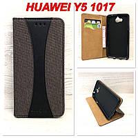 Чехол-книжка Goospery Canvas для Huawei Y5 2017 (MYA-U29) Черный