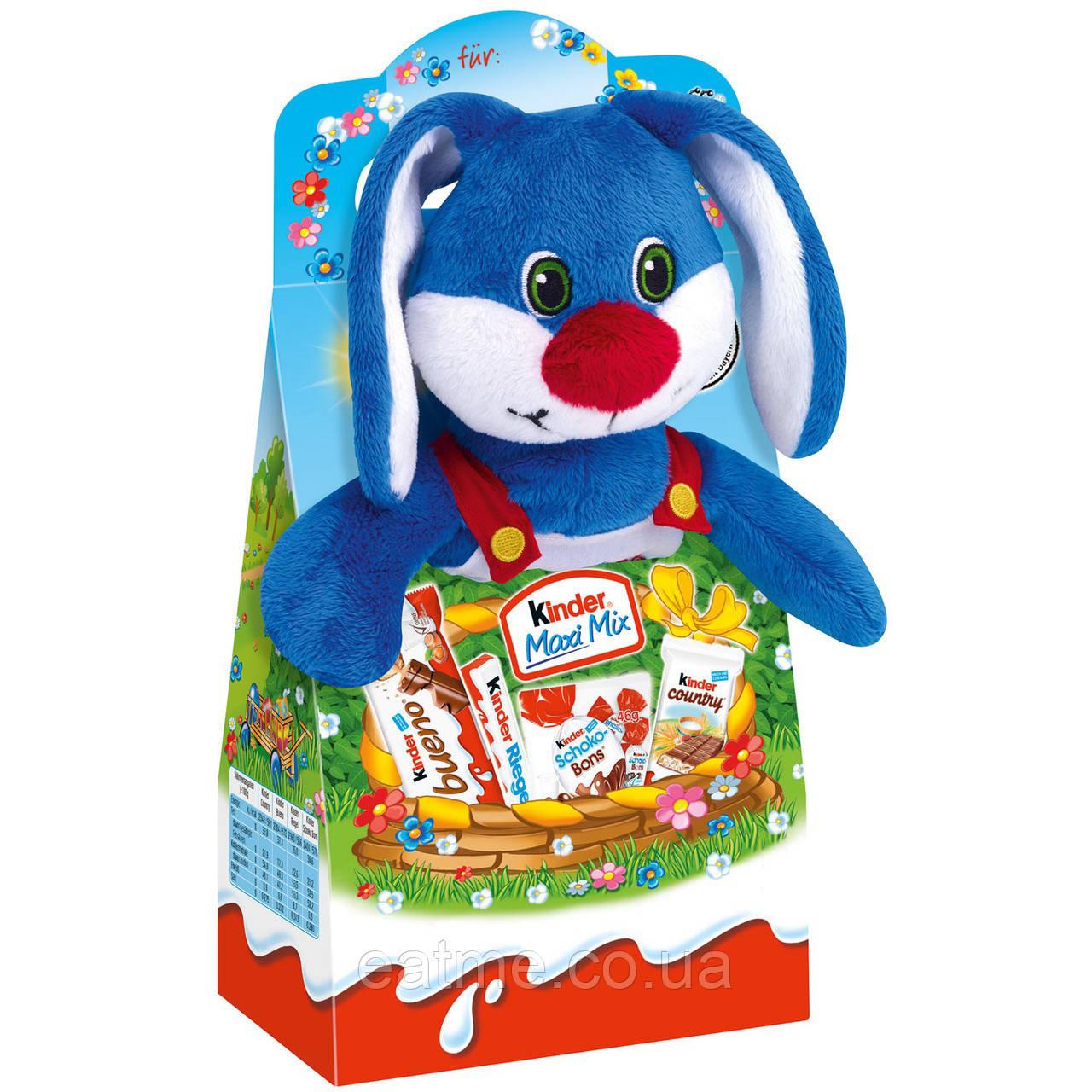 Kinder maxi mix Мягкая игрушка зайчик со сладостями