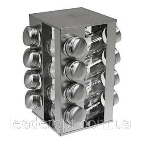 [ОПТ] Набір для спецій з нержавіючої сталі на 16шт