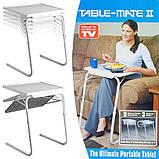 Мобильный складной столик для ноутбука и еды Table Mate 2 с регулировкой высоты и наклоном, фото 7