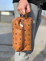 Косметичка MCM Wash Bag in Visetos Cognac