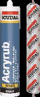Герметик акриловый ACRYRUB (600мл) Soudal