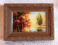 """Мыло ручной работы с картинкой """"Осенний пейзаж"""""""